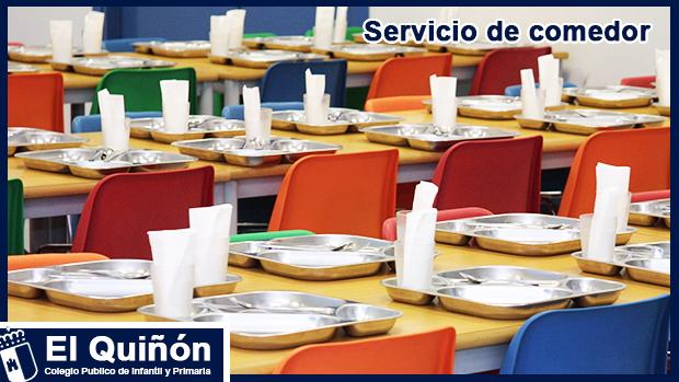 Servicio de comedor   CEIP El Quiñón, Seseña (Toledo)